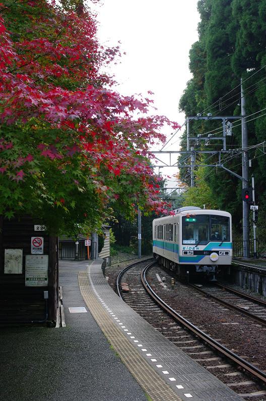 京都の紅葉2010 ~叡山電車・二ノ瀬駅~    と..._f0152550_22161039.jpg