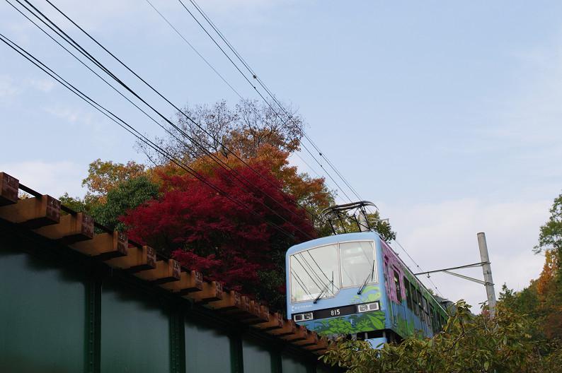 京都の紅葉2010 ~叡山電車・二ノ瀬駅~    と..._f0152550_22174539.jpg