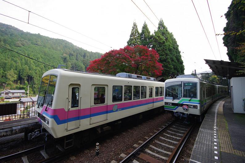 京都の紅葉2010 ~叡山電車・二ノ瀬駅~    と..._f0152550_2217474.jpg