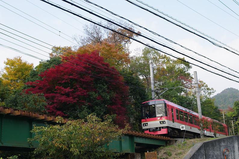 京都の紅葉2010 ~叡山電車・二ノ瀬駅~    と..._f0152550_2217547.jpg