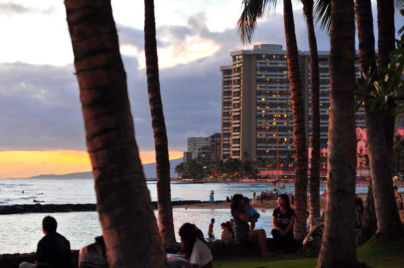 #10-236    Hawaii days ~ Waikiki Sunset_b0065572_8482731.jpg