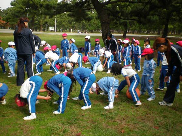 自由登園で浜寺公園へ_e0213130_1035181.jpg