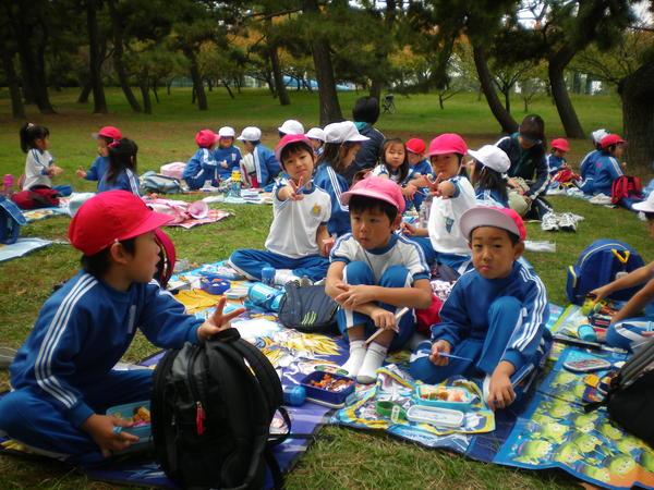 自由登園で浜寺公園へ_e0213130_1036284.jpg