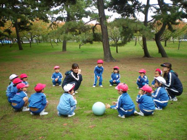 自由登園で浜寺公園へ_e0213130_1040724.jpg