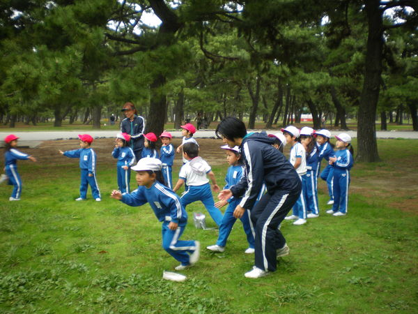 自由登園で浜寺公園へ_e0213130_10421776.jpg