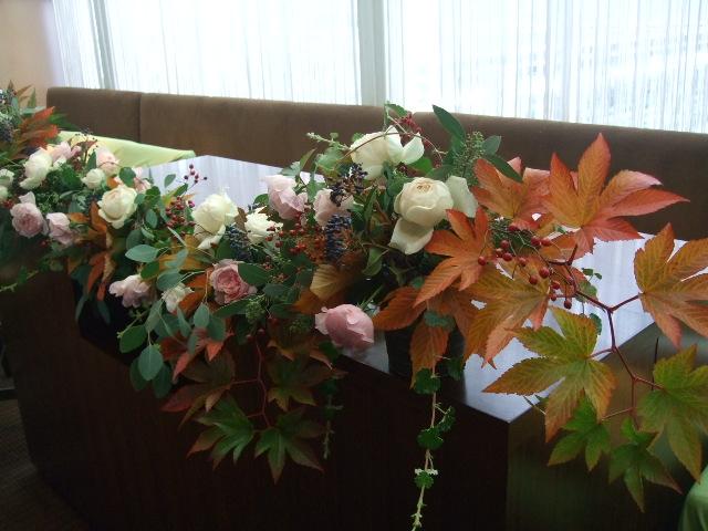 オークリーフ(紅葉木苺と秋バラのウェディング)_f0049672_1612199.jpg