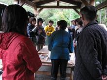 八ッ杉千年の森のイベント「和紙に炭を漉く」開催_e0061225_13522760.jpg