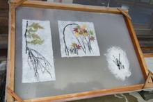 八ッ杉千年の森のイベント「和紙に炭を漉く」開催_e0061225_14104174.jpg
