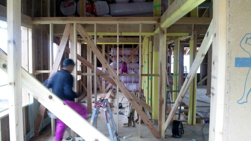 S邸「大沢新道の家」  工事中です。_f0150893_18543175.jpg