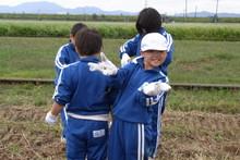 服間小学校の子供達が大豆の収穫をしました_e0061225_942573.jpg
