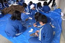 服間小学校の子供達が大豆の収穫をしました_e0061225_9493938.jpg
