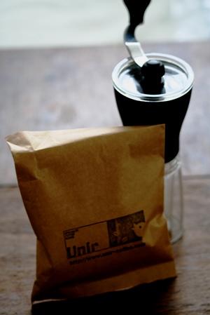ハリオ コーヒーミルスリムとUnirのコーヒー豆_b0048834_70378.jpg