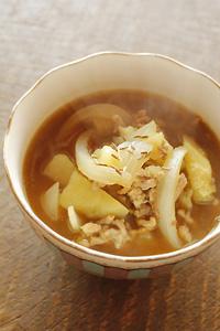 じゃがいもと挽肉のアジアンカレースープ_d0190828_1126731.jpg