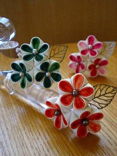 リーフ付き小花かんざし、3色。_e0168583_134775.jpg