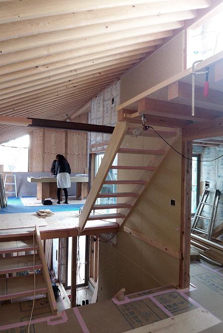 階段設置完了@世田谷S邸_d0017039_21514784.jpg