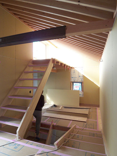 階段設置完了@世田谷S邸_d0017039_21532937.jpg
