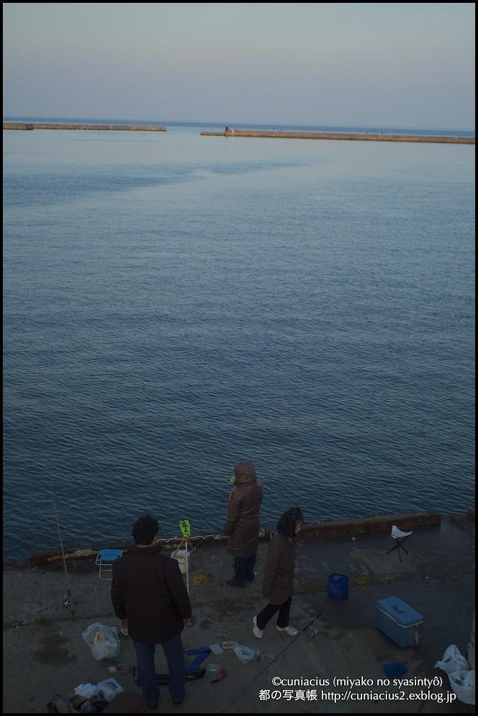 勝納埠頭の家族の釣り_f0042194_22495956.jpg