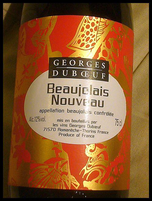 【ワイン】Beaujolais Nouveau 2010 (PARIS)_a0014299_18474499.jpg