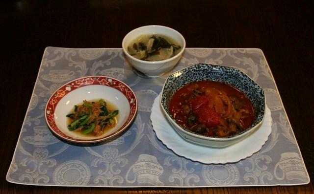★豆腐煮込みハンバーグ(390kcal)_f0229190_16241987.jpg