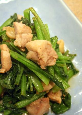鶏肉と小松菜の生姜炒め_f0141419_6452294.jpg
