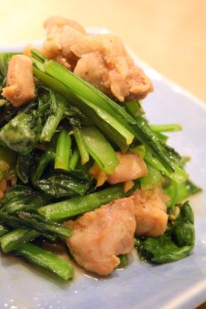 鶏肉と小松菜の生姜炒め_f0141419_6455470.jpg