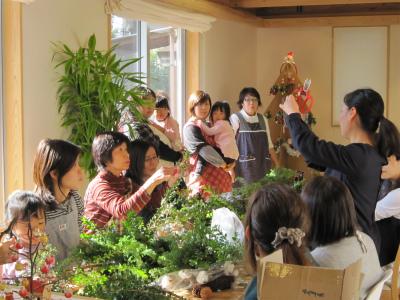 オーナー会第二弾~クリスマスリース教室 in フジモクMONO_c0160488_18255291.jpg