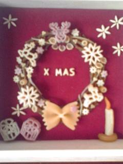 クリスマスリース_b0180617_15493153.jpg