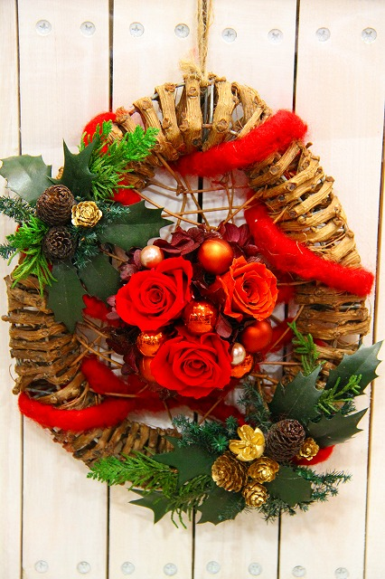 クリスマスリース_b0180617_15505034.jpg