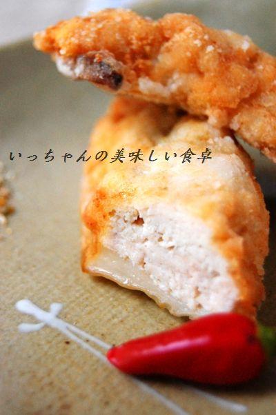 エリンギと鶏挽肉のかりっと揚げ_d0104926_23435296.jpg