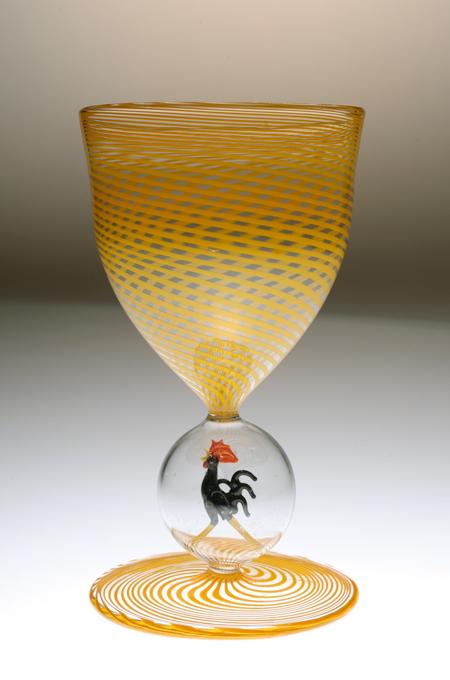 Bimini ビミニ 鶏フィギュア 螺旋 グラス 黄色_c0108595_14542160.jpg