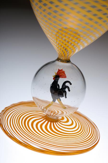 Bimini ビミニ 鶏フィギュア 螺旋 グラス 黄色_c0108595_14543361.jpg