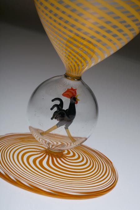 Bimini ビミニ 鶏フィギュア 螺旋 グラス 黄色_c0108595_14544615.jpg