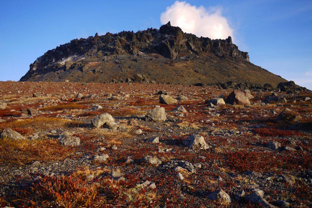 11月24日、樽前山の夕陽-その1-_f0138096_1381835.jpg