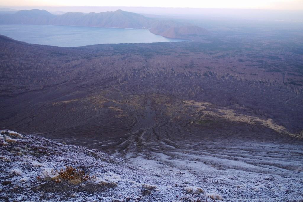 11月24日、樽前山の夕陽-その1-_f0138096_1382949.jpg