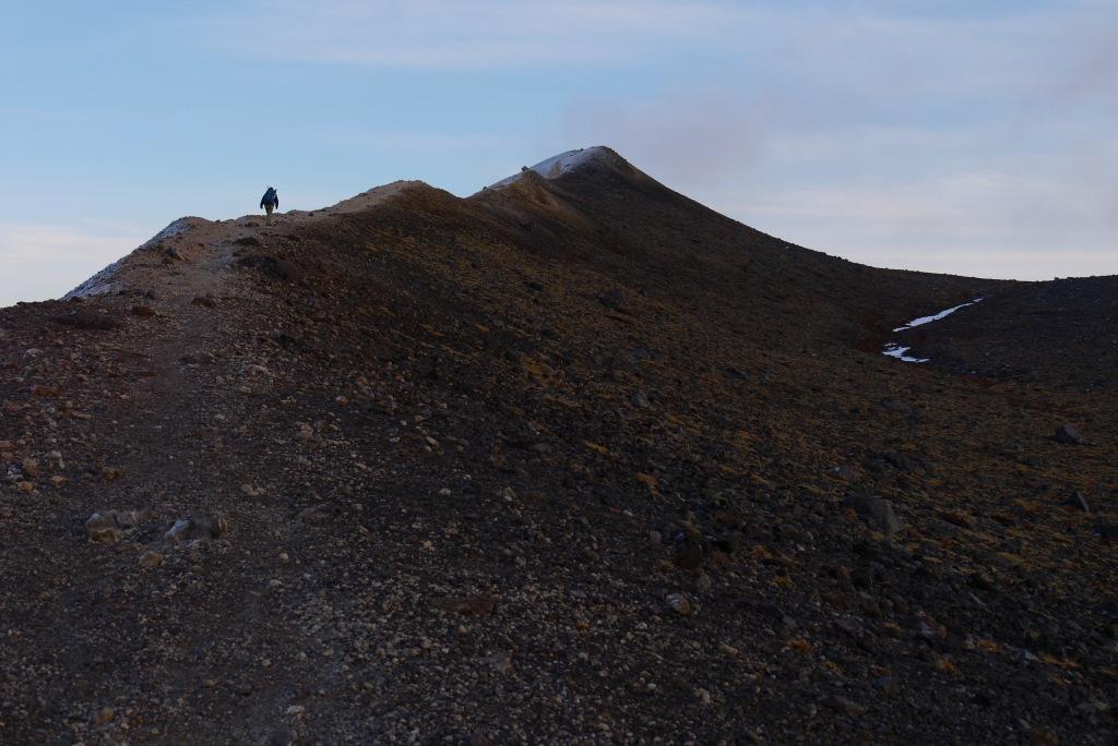 11月24日、樽前山の夕陽-その1-_f0138096_1384441.jpg