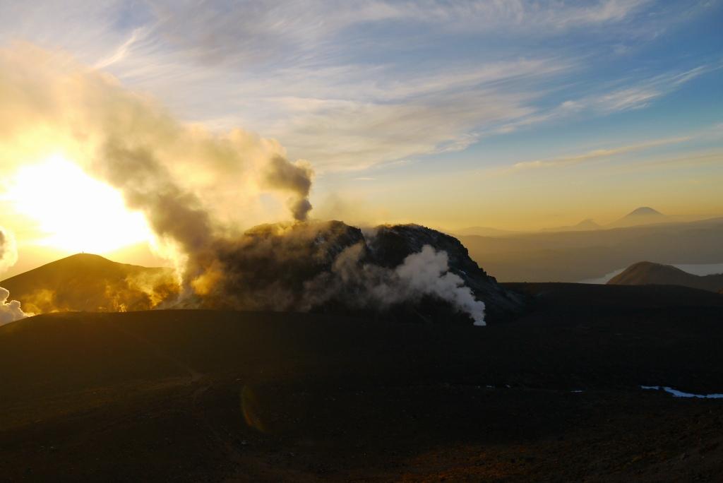 11月24日、樽前山の夕陽-その1-_f0138096_1385699.jpg