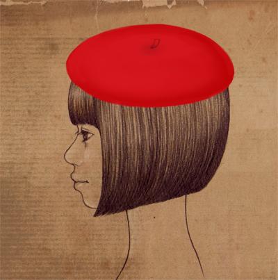 ベレー帽の被り方講座_e0177207_1213278.jpg
