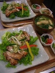 11/25晩ごはん:豚ロース肉のネギ塩だれ_a0116684_0235748.jpg