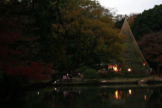 紅葉と大名庭園のライトアップ_f0030085_2122782.jpg