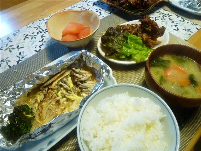 冷凍庫の奥の方から、使い残りの食材を引っ張り出しての夕飯作り(*^^)v_b0175688_23493869.jpg