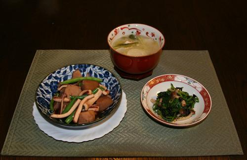 小芋とイカの煮物(226kcal)_f0229190_19112660.jpg