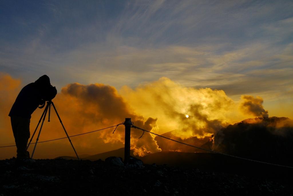 11月24日、樽前山の夕陽-その2-_f0138096_1134511.jpg