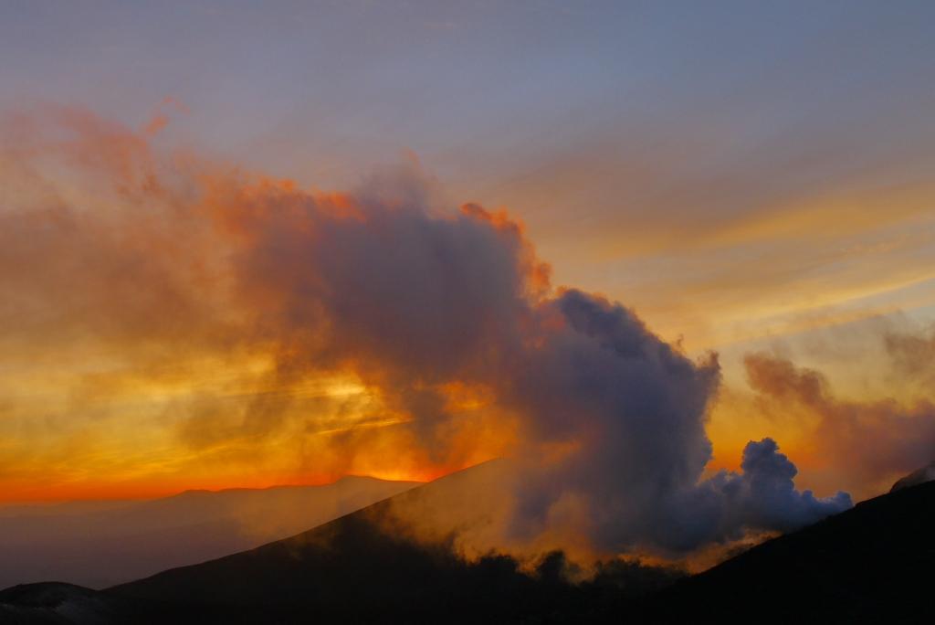 11月24日、樽前山の夕陽-その2-_f0138096_11352885.jpg