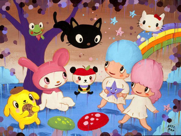 Garden of Sanrio Delights by Gary Baseman_c0155077_18341337.jpg