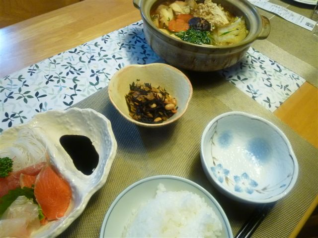 時には違う味の鍋にしましょう♪d(´▽`)b♪_b0175688_21561383.jpg