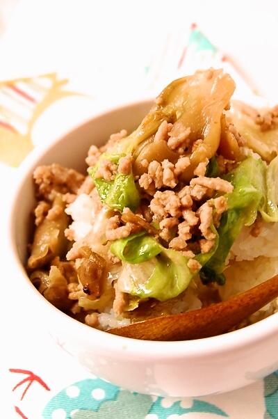 豚ひき肉とレタスのザーサイ炒め_d0104926_1125315.jpg