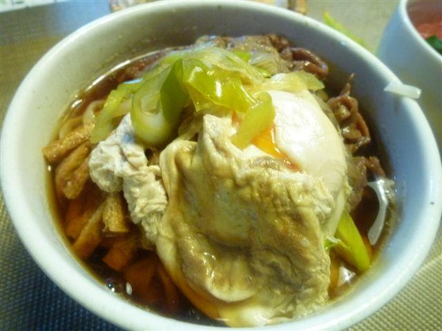 暖かな日曜日、夕飯は麺とミニ丼(*^^)v_b0175688_20332587.jpg