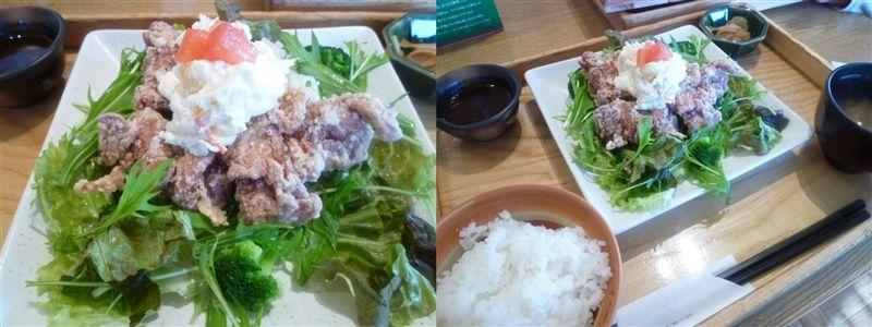 暖かな日曜日、夕飯は麺とミニ丼(*^^)v_b0175688_203913.jpg