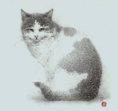 2011年 游デッサン室 カレンダー  『猫』_f0159856_922622.jpg