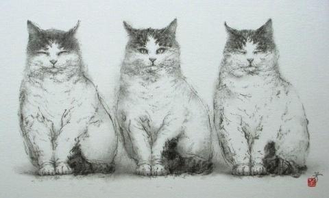 2011年 游デッサン室 カレンダー  『猫』_f0159856_932239.jpg